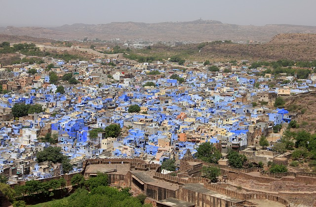 Voyage au Rajasthan - Jodhpur ville bleue